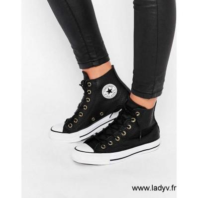 chaussures converse cuir femme