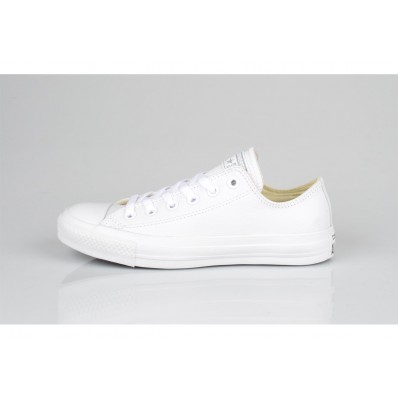 converses basses femme blanche cuir