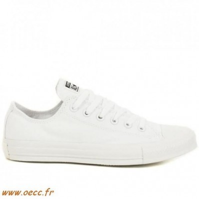 converses blanches femme basse