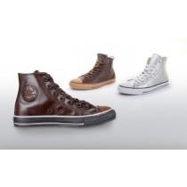 converse cuir brun