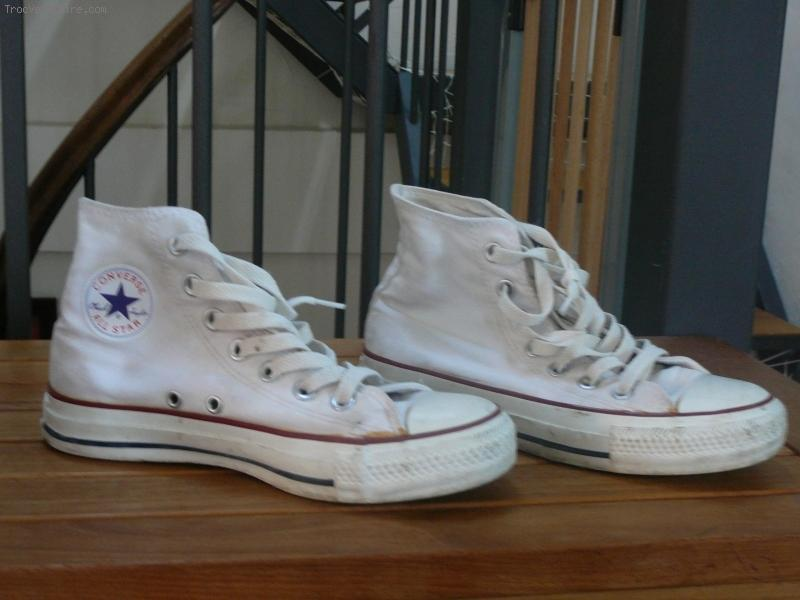 converse blanche femme occasion