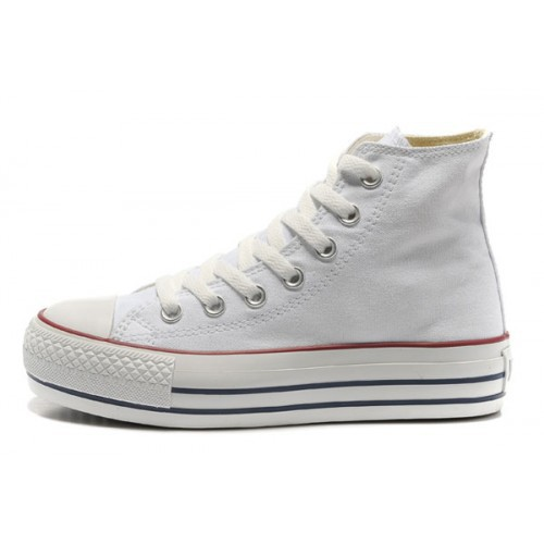 converse blanche plate femme
